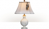 A bone and brass mounted table lamp