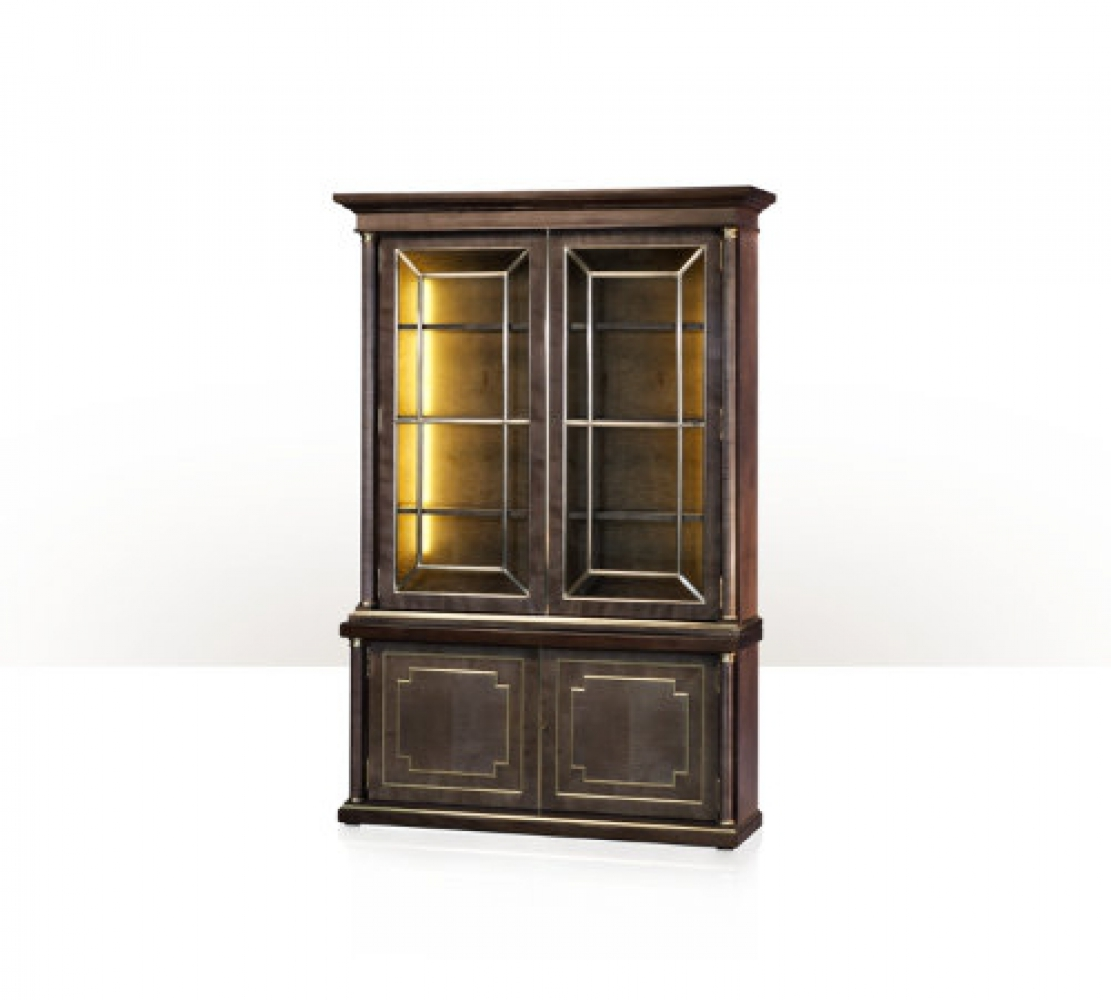 A platinum sycamore bookcase or display cabinet