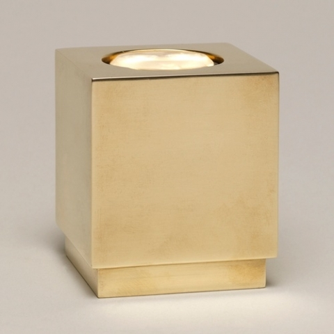 Copnall Uplighter in Brass