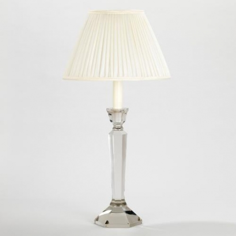 Pesaro Glass Candlestick Table Lamp